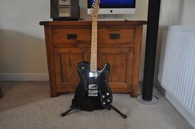 "Fender Telecaster "" Squire "" Guitar Black Gloss . Approx 10 years old used for 10 minutes"