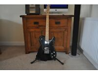 """Fender Telecaster """" Squire """" Guitar Black Gloss . Approx 10 years old used for 10 minutes"""