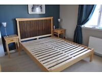 Kingsize solid wood bed frame