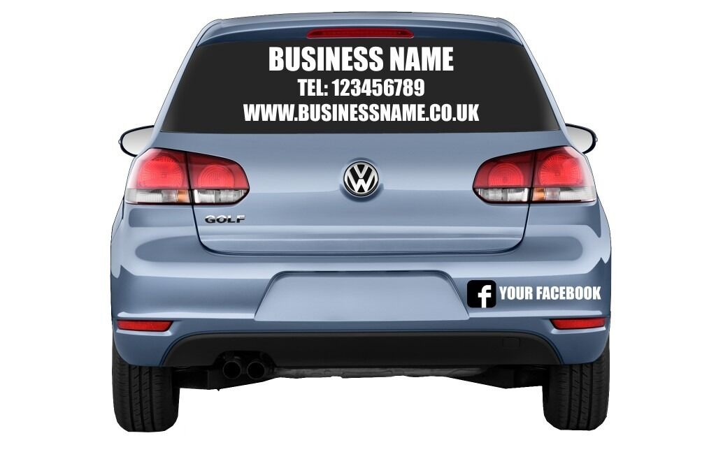 CAR WINDOW ADVERTISING STICKERS GRAPHICS VINYL DECALS In - Facebook window stickers for business uk