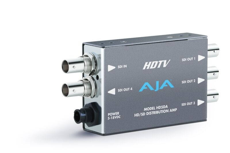 Aja Hd5da 1x4 Hd-sdi/sdi Distribution Amplifier/repeater(auto Equalizer To 100m)