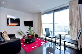 Studio suite on the 23rd Floor with balcony, West Tower, Pan Peninsula Square, London, E14