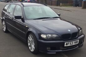 BMW 320d M SPORT AUTO TOURING/ESTATE LEATHER HISTORY A/C ALLOYS CRUISE CONTROL