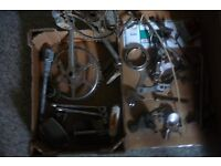 Vintage cycle parts Pedals & other bits. JOB LOT box ...Man's cave Project