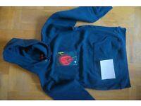supreme araki rose hoodie, dark blue