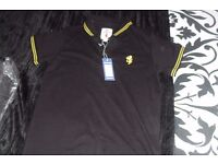 "AGE 12-13 YEARS NEW WITH TAGS BLACK ""LAMBRELLA"" POLO STYLE TOP"