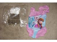 NEW IN BAG AGE 2-3 YEARS FROZEN PRINT PINK SWIMSUIT COST £10 WHEN BOUGHT