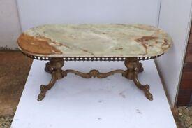 onyx coffee table retro