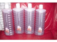 "NEW 4 LARGE BOTTLES OF AVON BUBBLE BATH ""POMEGRANATE + PEONY"" ALL 1000 ML BOTTLES"