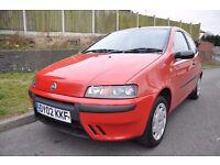 Fiat Punto 1.2 petrol 3 door hatchback 2002 *Long Mot*