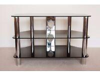 Metal/glass (black) TV stand
