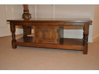 Old Charm Coffee Table or TV Stand in light oak