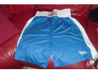"SIZE LARGE PAIR MEN'S ""LONSDALE"" BLUE SHORTS FOR BOXING"