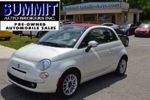2012 Fiat 500C Lounge Convertible   CAR-FAX CLEAN   HEATED SEATS