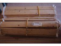 Wooden Ikea double bed, elegant & simple, super condition, no mattress