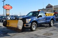 2011 Ford F-250 4X4 W/ 8' FISHER PLOW & TITAN SALT SPREADER