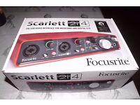 BRAND NEW Scarlett 2i4 USB (1st Gen) Audio Interface for musicians & Digital DJs RRP £179