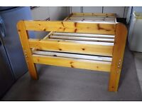 Solid Single bed frame in very good condition without mattress