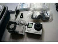 GoPro Hero 4 Silver Camera with full accessories and a free Lowepro camera bag