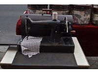 vintage cast iron hand crank singer sewing machine 201k