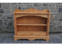 solid pine farmhouse open shelf sideboard dresser bookcase