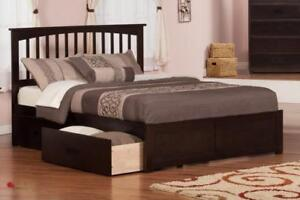FREE Delivery in Vancouver! Fraser Mission Platform Bed with Storage Drawers!