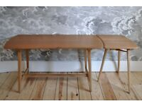 Vintage retro 60's Ercol Utility Dining Table CC41 and Three Legged Extension