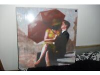 """NEW STILL SEALED SQUARE CANVAS PICTURE 23.5"""" X 23.5"""" LOVELY PICTURE"""