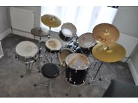 Pearl Export Drum Kit w. Pearl Firecracker Snare, Paiste 302 Ride and Crash