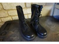 High leg boots with steel toe caps