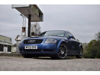 Audi TT 2003 blue with white leather interior