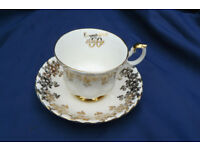 Golden wedding Royal Worcester cup and saucer.