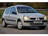 2003 Renault Clio 1.2 16v Expression 3dr +FREE WARRANTY+JUST SERVICED+SERVICE HISTORY+LONG MOT