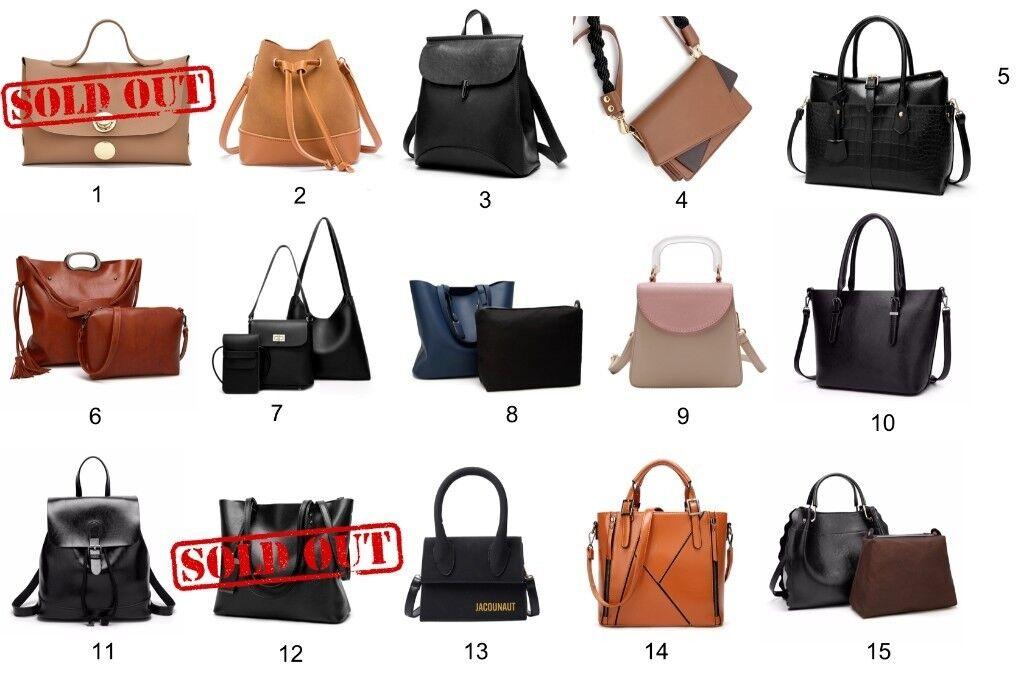 faa0e6b286f7 280 Clearance Sale Women s Brand New Faux Leather Handbags Job Lot
