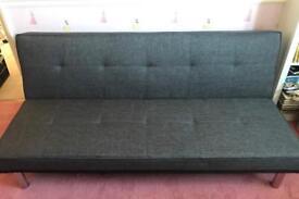 Grey Zenco fabric sofa bed