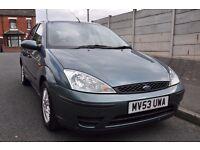 Ford Focus 1.6 petrol 2003 5 door hatchback, *Long Mot* * Low Mileage**Service History