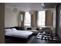 BRIGHT CLAPHAM DOUBLE FULLY FURNISHED STUDIO, CENTRAL HEATING, CLAPHAM NORTH COMMON HIGH STREET