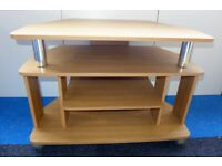3-tier TV table/stand on castors - may deliver for free N
