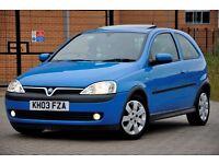 2003 Vauxhall Corsa 1.2 i 16v SXi 3dr+FREE WARRANTY+12 MONTHS MOT+SERVICE HISTORY