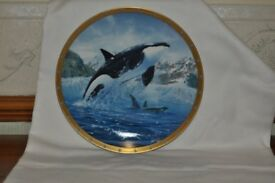 four collectible plates by Coheleach Holderby Reichardt Beecham.