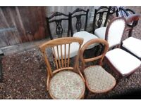 SEVEN ANTIQUE CHAIRS