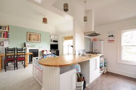 A two bedroom furnished top floor conversion apartment to rent in Kingston. Alexandra Road.