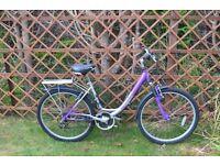 "Ladies bike - 18 speed - 17"" frame (43cm). Fully serviced"