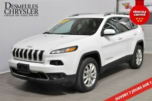 2017 Jeep Cherokee LIMITED V6*4X4*GPS*DÉTECTION ANGLE-MORT*CUIR
