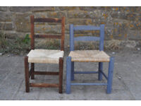 vintage wooden childs chairs