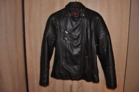 Womens Next Leather Black Jacket size 12