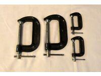 4 Piece C Clamp Set 2x 2'', 2 x 4''