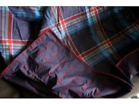 Dunelm Blue Tartan Single Bed Linen - new and never used