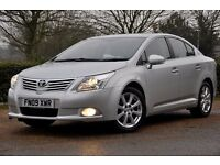 2009 Toyota Avensis 1.8 V-Matic 4dr+LOW GENUINE MILEAGE+LONG MOT+FREE WARRANTY+FULL SERVICE HISTORY