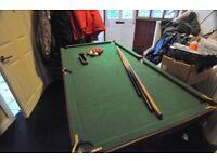 Pot Black Pool Table